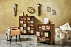 Kommode in Natur, ca. Gallery Wall, Shabby Chic, Home Decor, Natural Colors, Dresser, Shelf, Living Room, Timber Wood, Decoration Home