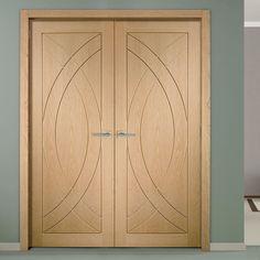 simpli double door set treviso oak flush door prefinished