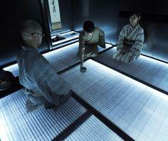 LED tatami floors take us to tea ceremony of the future Tatami Room, Tatami Mat, Japanese Beer, Japanese Style, Chinese Style, Japanese Interior, Art And Technology, Tea Ceremony, Interior Exterior