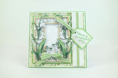 Tattered Lace Cards, Elizabeth Craft, Hollyhock, Lily Of The Valley, Homemade Cards, Tatting, Bliss, Frame, Flowers