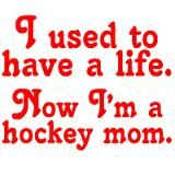So true!!  Thought with the season winding down I'd have my weekends back.... Nope spring hockey... Gah.  And another wee one starting off following his brothers footsteps :)