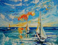 Ship, Landscape, Abstract, Canvas, Drawings, Artwork, Painting, Ideas, Summary