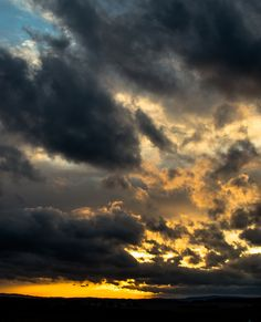 After storm by Hubert Müller on Clouds, Celestial, Sunset, Nature, Outdoor, Outdoors, Sunsets, Outdoor Games, Outdoor Living