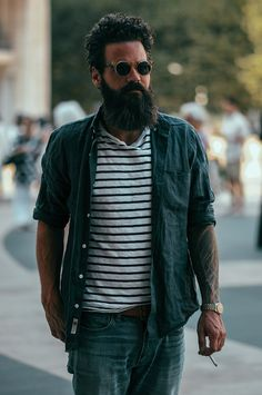 New-York-Fashion-Week-SS15_streetstyle_day1_fy11 beard Rolex men Style streetstyle