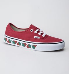 Vans Authentic (Strawberry Tape) Trainers Red-Black bd45903fb54df