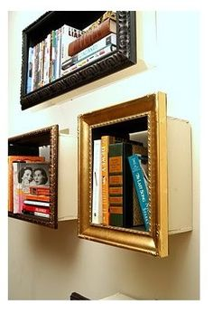 DIY Book Shelf From Old Frames And Wooden Box