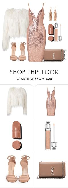 """""""Jas'Nacole955"""" by jasnacole ❤ liked on Polyvore featuring Giamba, Chanel, Christian Dior, Stuart Weitzman, Yves Saint Laurent and Henri Bendel"""