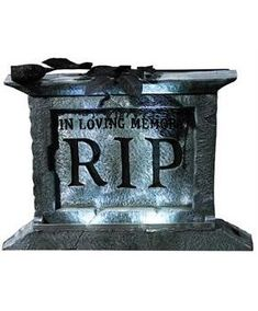 Pedestal Tombstone - CostumePub.com Halloween Skeleton Decorations, Haunted House Decorations, Scary Halloween, Vintage Halloween, Halloween Party, Halloween Ideas, Halloween Stuff, Tombstones For Halloween, Haunted Props