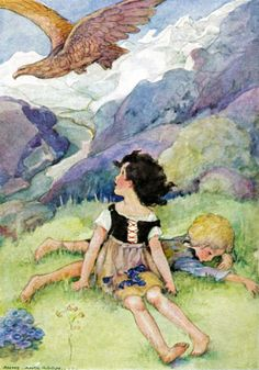 """""""Heidi"""" (1923). Frontispiece by Anne Anderson"""