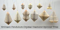 Pendulum small Christmas Decoration: folded by PaperStatement