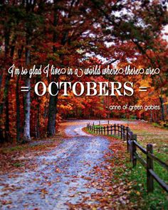So excited for October!!!