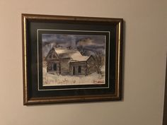 One of my older paintings that was reborn when i put it in this beautiful used frame ... framing a painting always makes it pop!