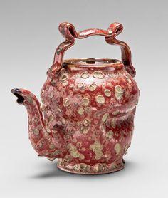 George E. Ohr (American, 1857–1918). Teapot, 1897-1900. The Metropolitan Museum of Art, New York. Promised Gift of Robert A. Ellison Jr. (L.2009.22.279a, b) #OneMetManyWorlds