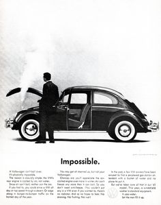(via Beetle Commercials & Print Ads Changed the Nature of Advertising | Articles)