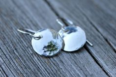 Simple Moons  Hammered Sterling Silver Earrings by MooandtheBear, $22.00
