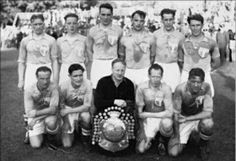 Malmo FF of Sweden team group in Football Soccer, Workplace, Sweden, Laughter, Champion, 1940s, Sports, Group, Community