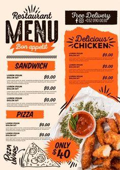 Plantillas Menu Restaurante GRATIS - Lettering Time Vegan Burger Restaurant, Burger Menu, Pizza Menu, Bbq Menu, Vegan Restaurants, Restaurant Recipes, Resturant Menu, Cafe Menu Design, Menu Card Design