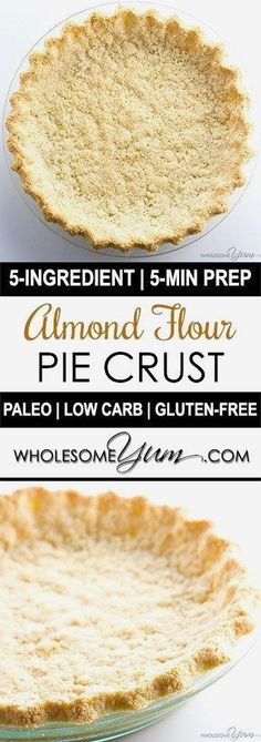Almond Flour Pie Crust Recipe – 5 Ingredients (Paleo, Low Carb, Gluten-free) - This low carb paleo almond flour pie crust recipe is so easy to make. Just 5 minutes prep and 5 ingredients! Gluten-free, sugar-free, dairy-free, and keto. (savory thanksgiving treats)