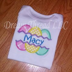 Easter egg onesie or shirt made to order by DreamThread on Etsy