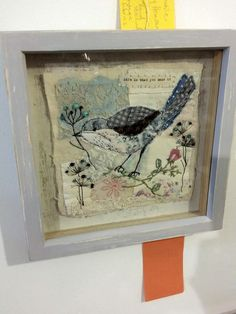 Life is what you make it. Bird Embroidery, Free Motion Embroidery, Hand Embroidery Stitches, Free Machine Embroidery, Fabric Animals, Fabric Birds, Fabric Art, Bird Crafts, Crafts To Do
