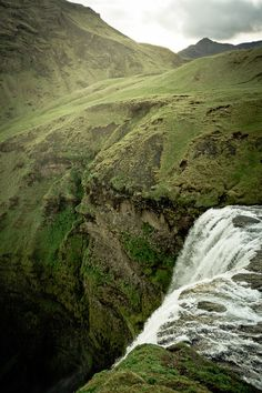 Waterfall Skógafoss in Iceland