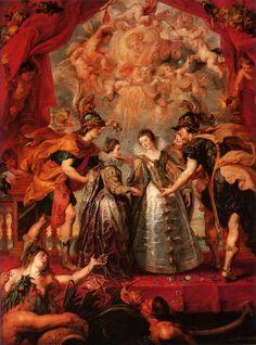 Peter Paul Rubens – The Exchange of Princesses (1623-1625) oil on canvas Paris, Musée du Louvre