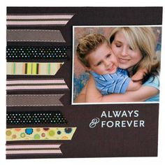 Always Forever, a scrapbooking idea with cool use of ribbon