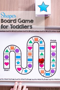 Are you looking for a fun way to practice and review shapes with your toddler or preschooler? This Shapes Board Game for Toddlers is a quick and easy way to make it more interesting. Includes a printable die template that's easy to put together.