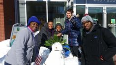 Residents make the best of the snow. Our snowwoman is named Amelia Rose and has been crowned the Princess of Takoma Central.