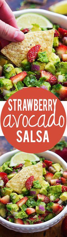 Strawberry Avocado Salsa | Creme de la Crumb