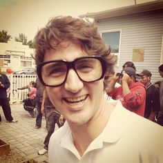 Justin Trudeau in Keith's Glasses. I'm so proud of you, Keith! Justin Trudeau, Proud Of You, Good People, How To Become, Glasses, Instagram Posts, Folk, Life, Eyewear