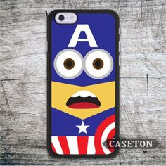 Minion Captain America Lovely Case For iPod 5 and For iPhone 7 6 6s Plus 5 5s SE 5c 4 4s Funny Ultra Cover Free Ship