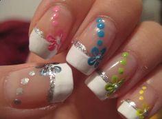 French tip nail art