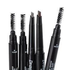 2016 New Waterproof 5 Colors Eye Brow Eyeliner Eyebrow Pen Pencil With Brush Makeup Cosmetic Tool - Glamorous Gift Ideas