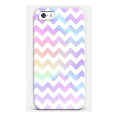 Pastel Rainbow White Chevron iPhone (255 VEF) ❤ liked on Polyvore featuring accessories, tech accessories, phone cases, cases, pastel and phone