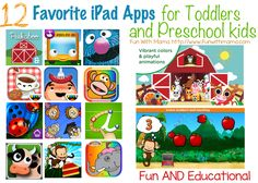 A comprehensive list of educational and fun apps for toddlers and preschool aged kids! Some free versions too!