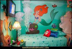 Ariel themed bedroom decorating ideas-Ariel theme bedroom ideas