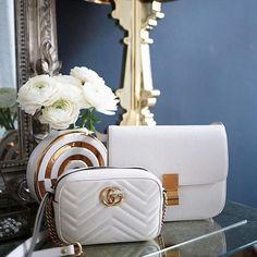 Complete your Spring wardrobe with a chic white bag.