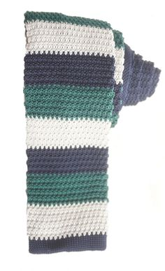 Forest Blue Men's Knitted Tie by XIILOO on Etsy