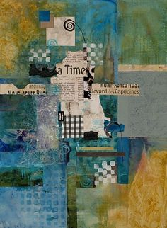 A Time To Share by Sue St.John ~ idea for background of smash book page