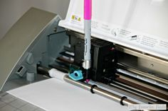 Shut the front door! Addressing envelopes creatively- put a sharpie in your cricut machine.  Kind of genius