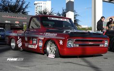 Smitty's Custom Automotive, Ltd had their '67 Chevy C-10 at SEMA for the Optima Ultimate Street Car Invitational complete with their new front end, carbon hood, and Forgeline RB3C wheels. See more at: http://www.forgeline.com/customer_gallery_view.php?cvk=656  #Forgeline #RB3C #notjustanotherprettywheel #Chevy #C10 #OUSCI #SEMA2013