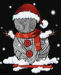 Knitting Humor, Crochet Humor, Knitting Projects, Crochet Projects, Hand Knitting, Knitting Patterns, Christmas Knitting, Christmas Art, Xmas