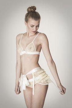Bridal - Kriss Soonik Eva Suspender Belt £99.00 - #Lingerie  #Bridal #Suspenders