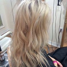 #blonde #foils #balayage #beachwaves #hair