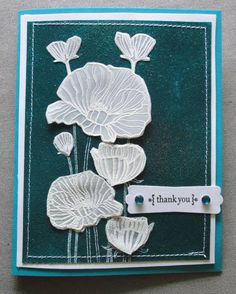White vellum poppies by alicaz - Cards and Paper Crafts at Splitcoaststampers