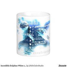 Incredible Dolphins White 11 oz Classic White Mug
