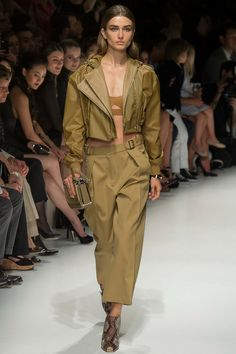 Extra casual all khaki by Salvatore Ferragamo | Spring 2014 Ready-to-Wear Collection | Style.com