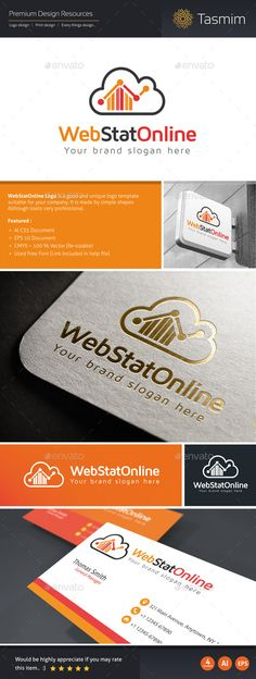WebStatOnline Logo is a good and unique logo template suitable for your company, It is made by simple shapes Although looks very p