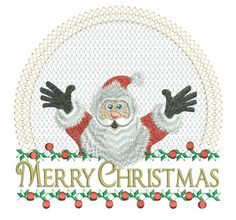 "It's Santa!"" - have fun with this wonderful design. I digitized it with an embossed background so that towel designing using this design would be easier. have fun! Christmas Gifts To Make, Machine Embroidery Designs, Design Projects, Santa, Merry, Clock, Kids Rugs, Stitch, Pixies"